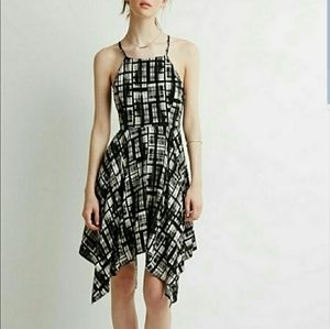 Black/White Handkerchief Dress